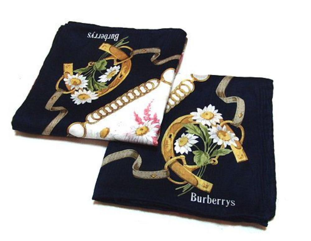 真品保證burberry 手帕領巾_馬蹄花柄 情人節禮物首選