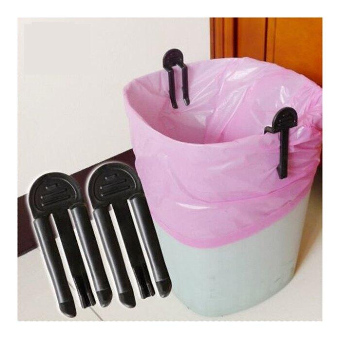 [Hare.D] 垃圾桶固定夾2入組 垃圾袋防滑夾 垃圾袋固定器 不挑色 隨機出貨