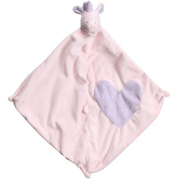 美國Angel Dear 動物嬰兒安撫巾 愛心獨角獸