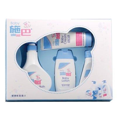 施巴 Sebamed 嬰兒粉藍熊語禮盒/彌月禮盒(附提袋)