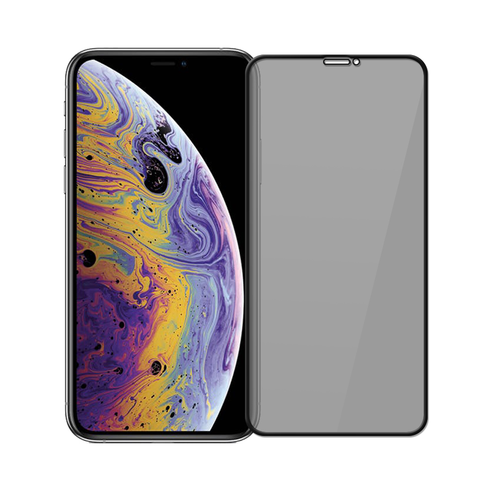 【SHOWHAN】iPhone11 Pro Xs/X (5.8吋)高透光防窺滿版9H鋼化玻璃保護貼