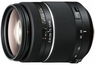 展示機出清!SONY SAL-2875 數位單眼相機鏡頭 28-75mm F2.8 SAM 明亮的 F2.8 大光圈