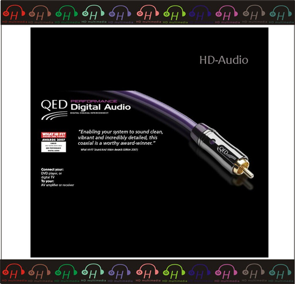 弘達影音多媒體 英國QED Performance Digital Audio 數位同軸線 - 1 M
