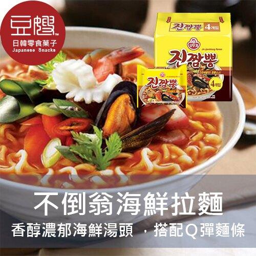 【豆嫂】韓國泡麵 不倒翁 海鮮風味Q拉麵 (4包/袋)