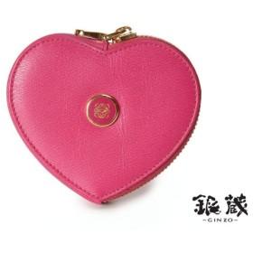 ロエベ・LOEWE コインケース ハート型 ピンク レザー(中古)◇