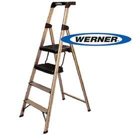 美國Werner穩耐安全梯-234T-3AS優雅金寬踏板家用梯 鋁梯 A字梯 梯子 /組 (出貨後即無法退換貨,請下單確認好尺寸規格)