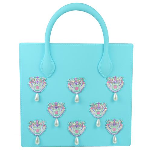 【Candies】ENFILL虎頭群托特購物包(藍)