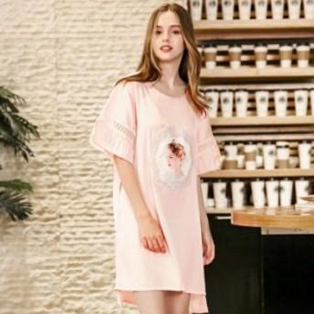 パジャマ 寝間着 レディース部屋着 絹パジャマ シルク ワンピース ルームウェア ナイト お姫様 ランジェリー オシャレ セットアップ