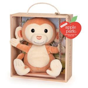 美國 Apple Park 有機棉玩偶彌月禮盒 - 鞦韆小猴