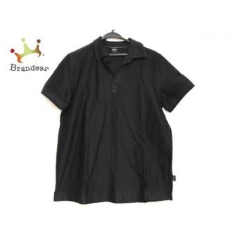 ヒューゴボス HUGOBOSS 半袖シャツ サイズM メンズ 美品 黒 ニット/スキッパー 新着 20190615
