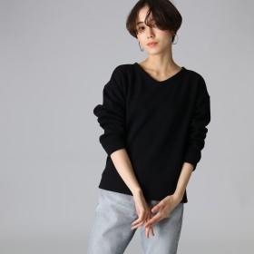 JET(ジェット)/【洗える】裏起毛ストレッチデザイントップス