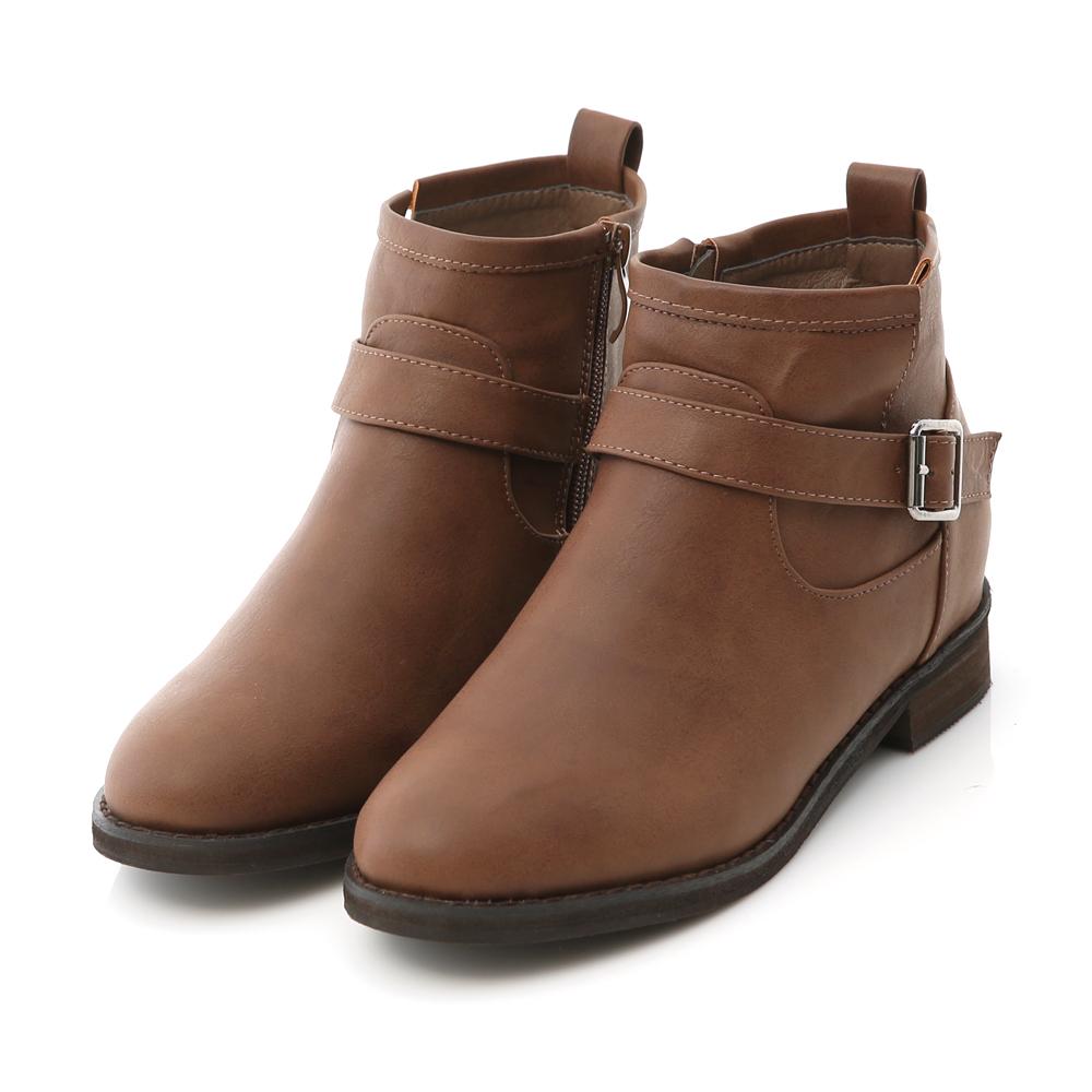 D+AF 熱銷指定.單釦環內增高軍風短靴