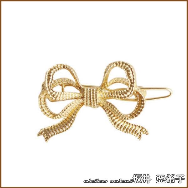 坂井.亞希子日系簡約百搭螺紋金屬造型髮夾