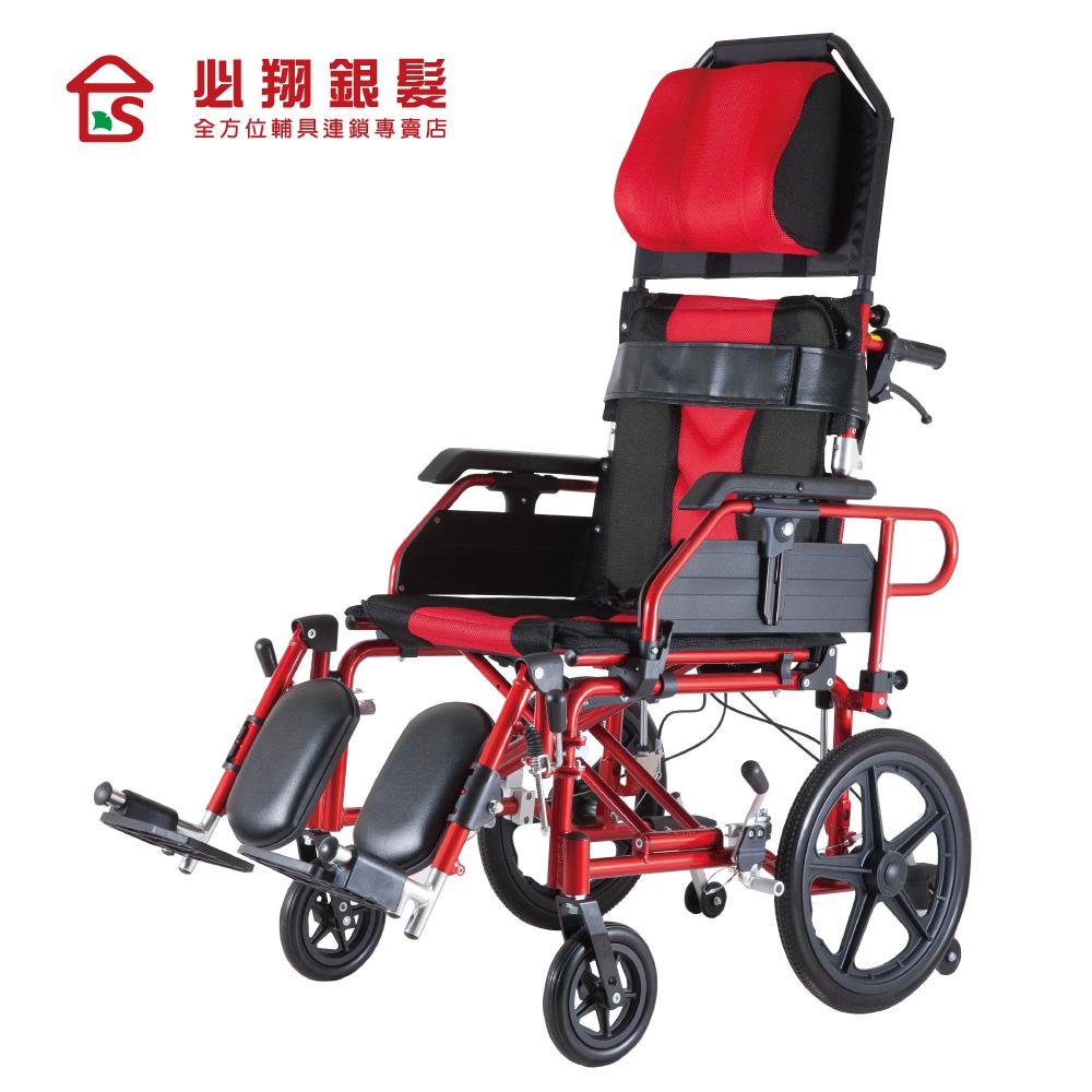 必翔銀髮 高背躺式看護輪椅PH-185B(未滅菌)