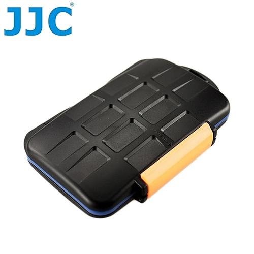 JJC記憶卡收納盒MC-4適CF卡4張.Micro SD卡8張.XD卡8張(橘色,可存共二十張)記憶卡儲存盒保存盒
