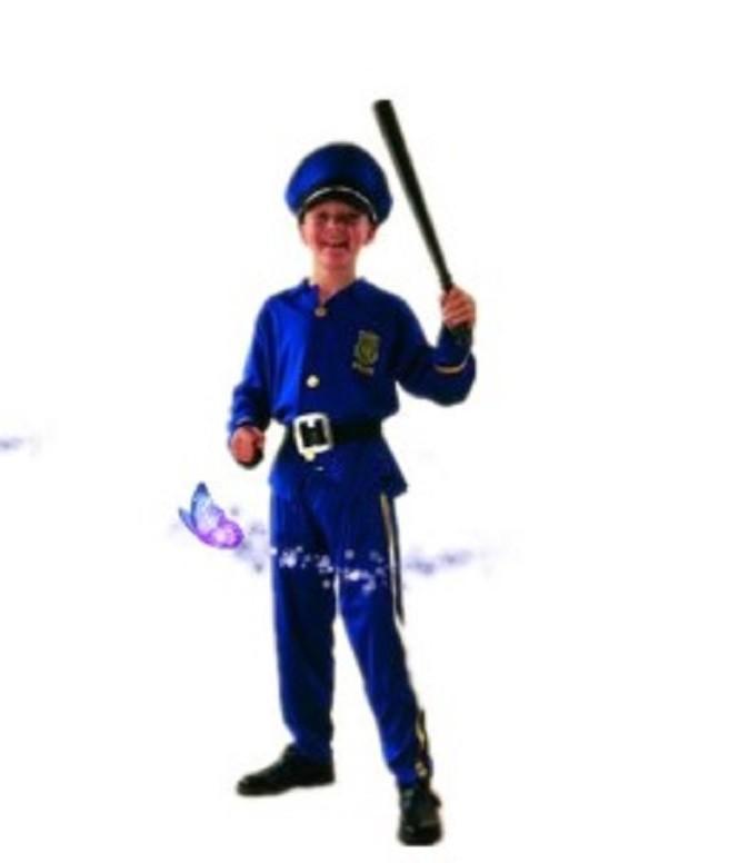 萬聖節cos男警察服裝兒童警察演出服衣服
