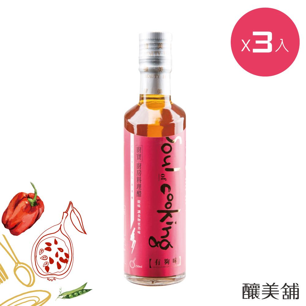 【釀美舖】有夠味廚房料理醋 250ml X3入組