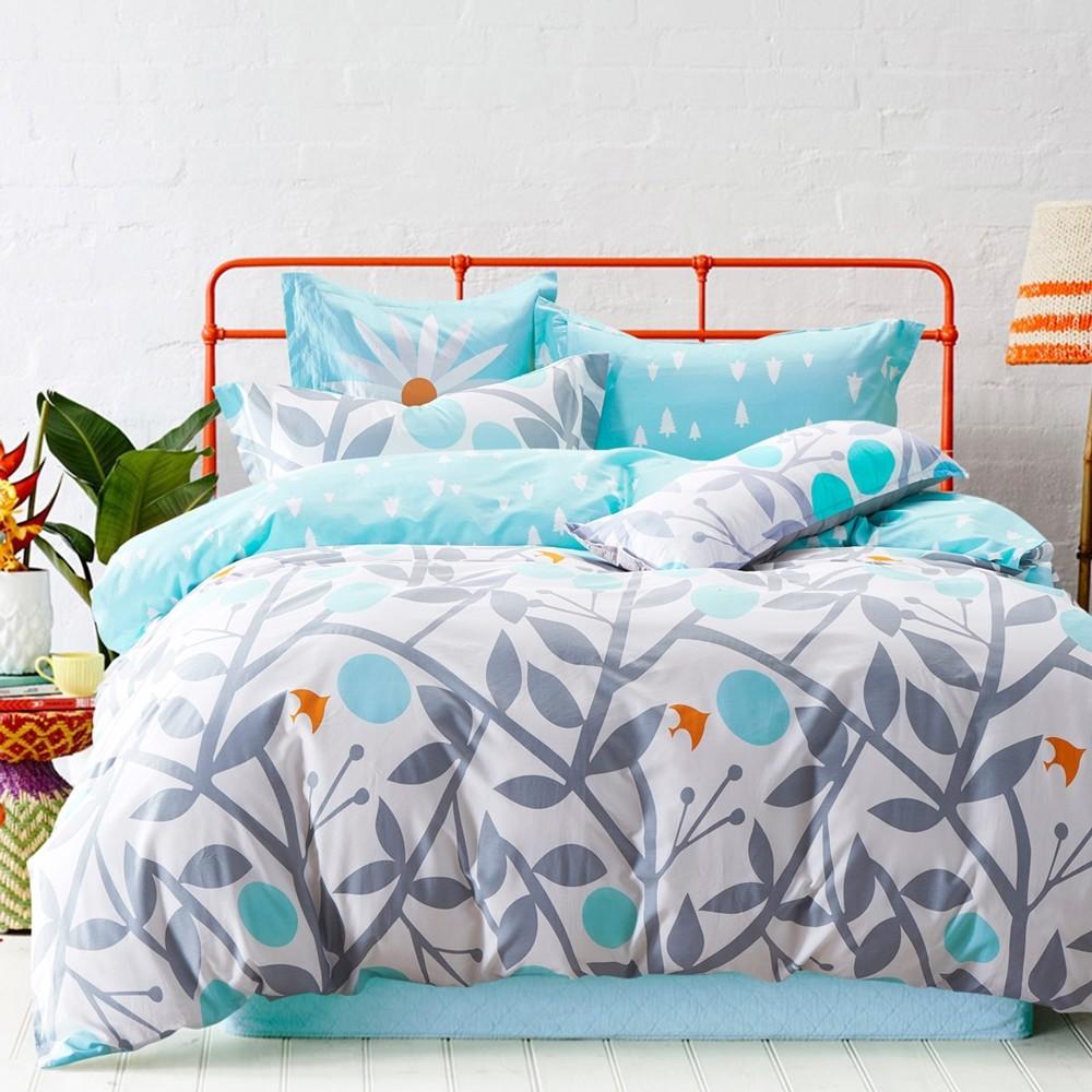 Pure One 北歐風台灣製- 雙人三件式床包組 - 剪影