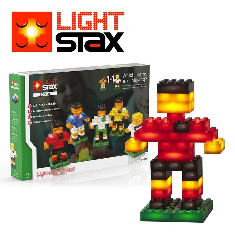 創意LED積木(足球小子+聲控底座)