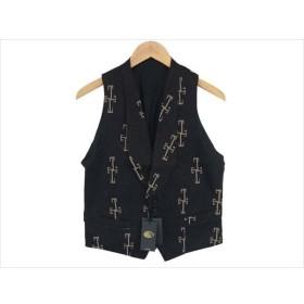 ブラックサイン BSFV-15204B Moki Jacquard Victorian Vest ベスト ジレ  ブラック系 36 BLACK SIGN 【新古品】【未使用】【中古】