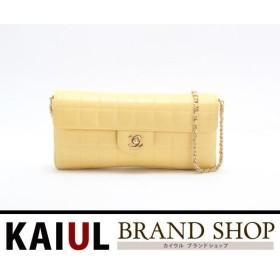 シャネル チョコバー チェーンショルダーバッグ A15316 イエロー×ゴールド金具 ラムスキン SAランク/中古  シャネル バッグ