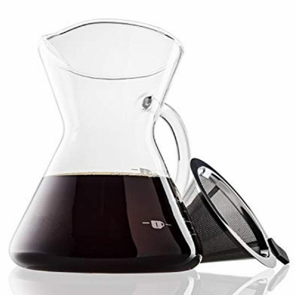 日式簡約手沖咖啡耐熱玻璃壺