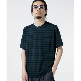 【70%OFF】 ナノ・ユニバース レーヨン転換ボーダーTシャツ メンズ パターン4 S 【nano・universe】 【セール開催中】