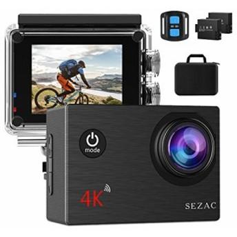 【進化版】Sezac 4Kアクションカメラ WiFi搭載 2000万画素 UHD 30M強力防水 SONYセンサー 170度広角レンズ 手ブレ補正 HDMI出力 スポーツ