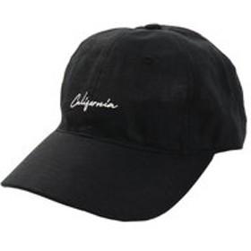 【Super Sports XEBIO & mall店:帽子】リネン刺繍キャップ Calif 897PA9ST1763 BLK