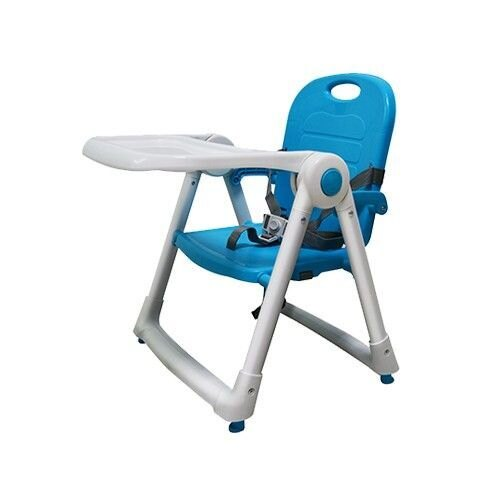 【紫貝殼*加贈獅子寶寶抗菌濕巾10抽】美國 ZOE Dining Booster可攜式折疊多功能兒童餐椅-湖水藍-Aqua