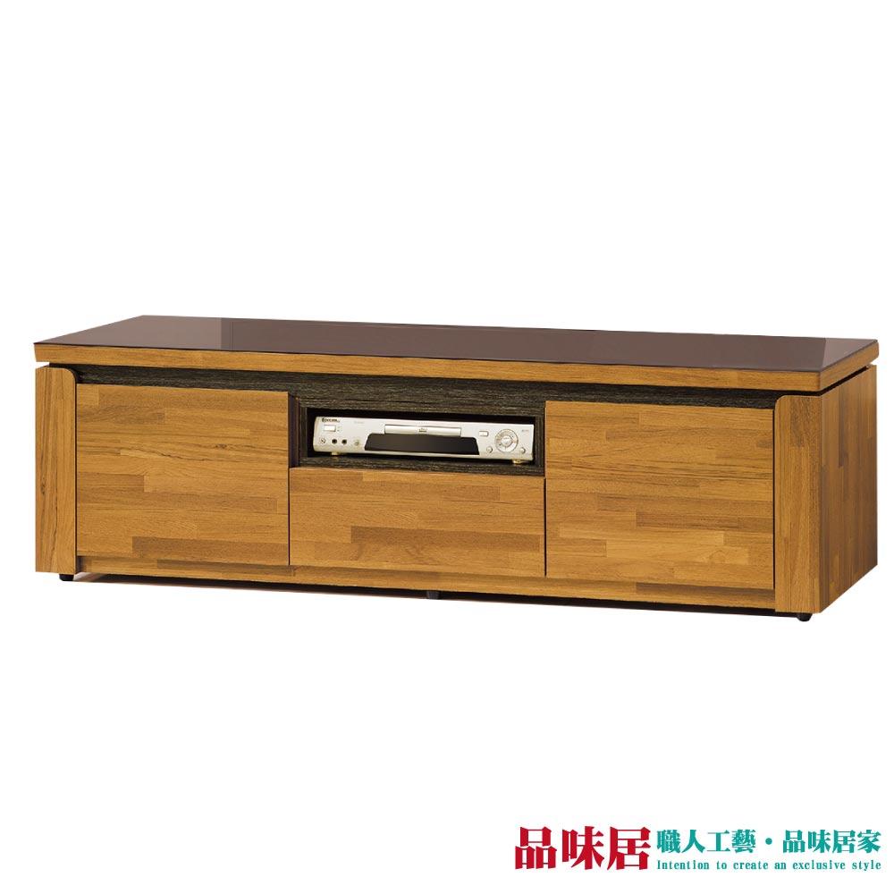 【品味居】莫德瑞 時尚6尺木紋玻璃電視櫃/視聽櫃