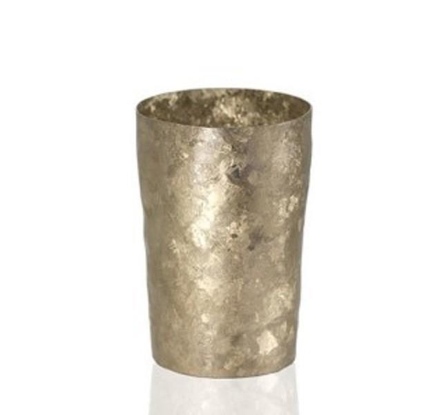 日本代購horie日本製鈦制啤酒杯冰酒杯豪華結晶凹凸質感高檔杯子