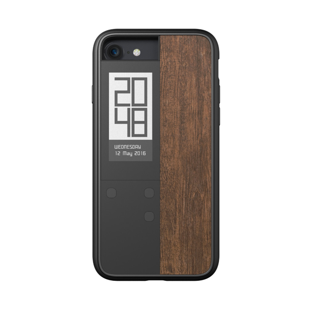 oaxisink case ivy 雙螢幕手機殼 for iphone 7 (紫檀木紋楓木紋)