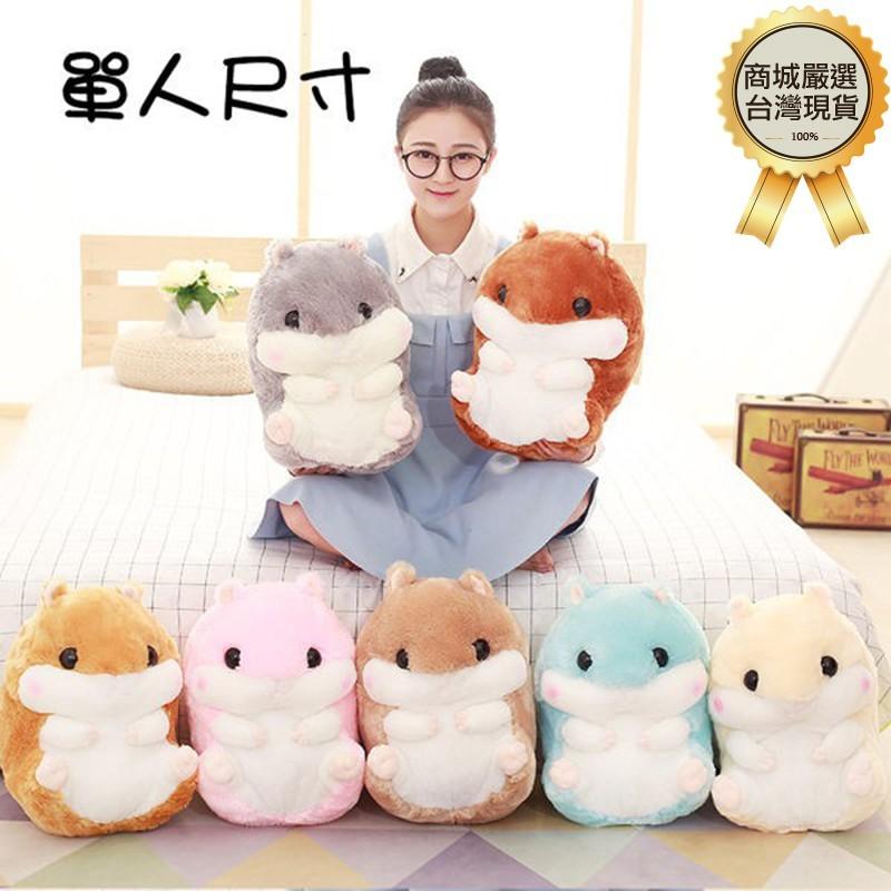 [台灣出貨] 單人尺寸 可愛倉鼠 懶人毯 倉鼠毯 抱枕 玩偶 靠枕 毛毯