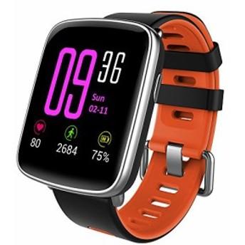 スマートウォッチ、 Yamay 1.54インチHD画面スマートブレスレット 心拍計 活動量計 多機能腕時計 Bluetooth通話機能搭載(SIMカードなし)