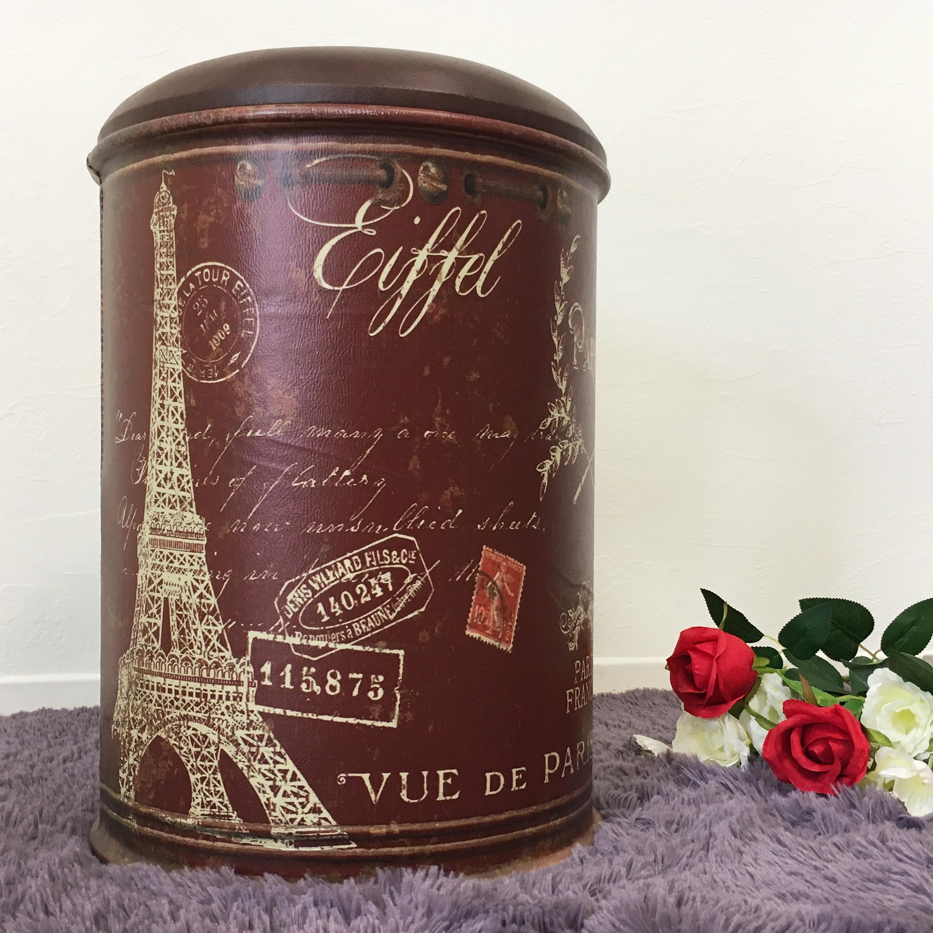 《9 ball》巴黎鐵塔 咖啡 圓筒椅 工業風 穿鞋椅 收納椅 收納凳 汽油桶 鐵桶 美式 酒吧 裝飾 !新生活家具! 樂天雙12