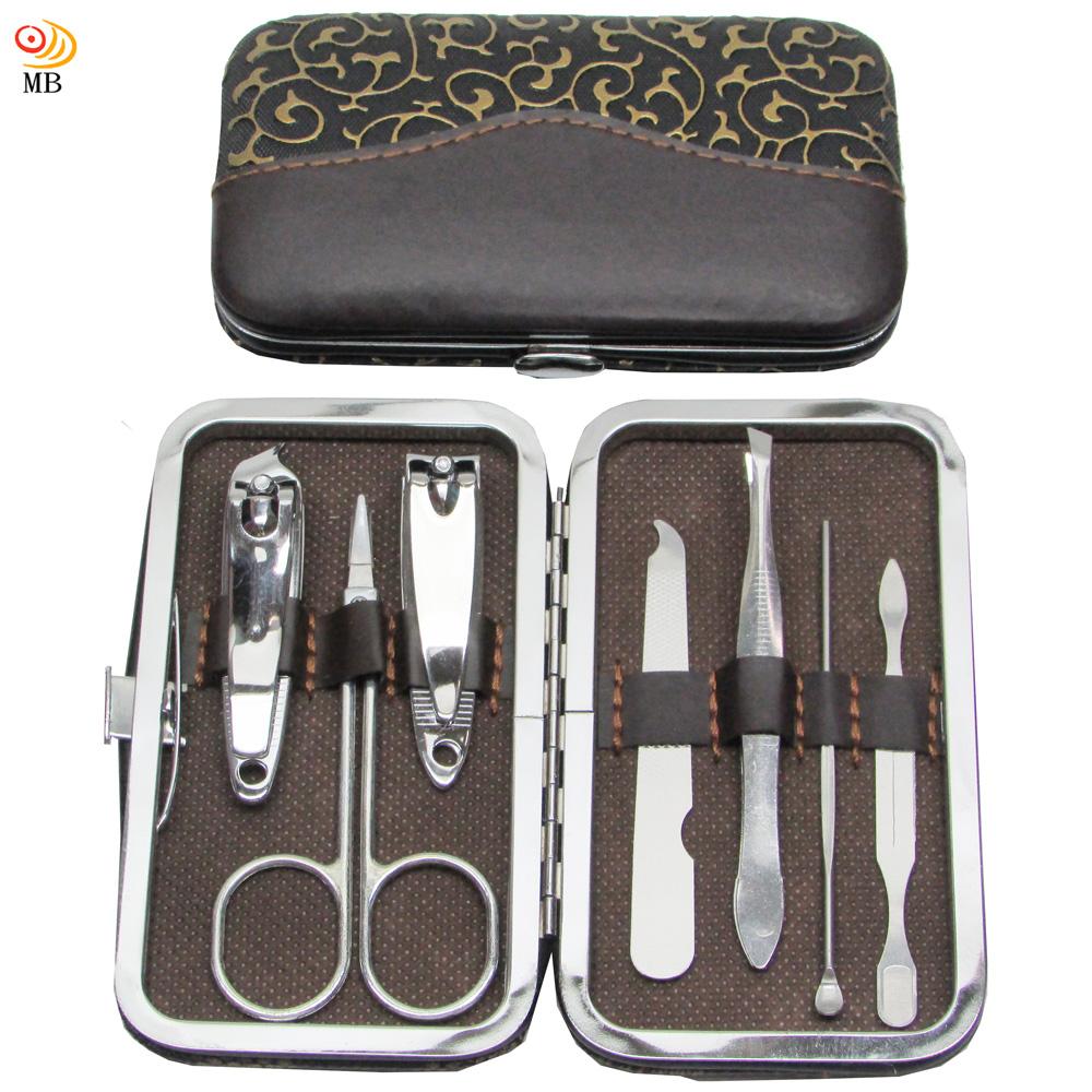 月陽7件式輕巧框架皮盒指甲剪銼刀耳扒修容組(GL07A)
