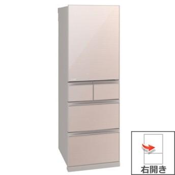(長期無料保証/標準設置無料) 三菱電機 冷蔵庫 MR-B46E-F クリスタルフローラル 右開き 内容量:455ットル