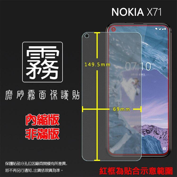霧面螢幕保護貼 NOKIA X71 TA-1167 保護貼 軟性 霧貼 霧面貼 磨砂 防指紋 保護膜 手機膜