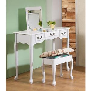 《C&B》加寬型英倫風掀鏡兩用化妝書桌