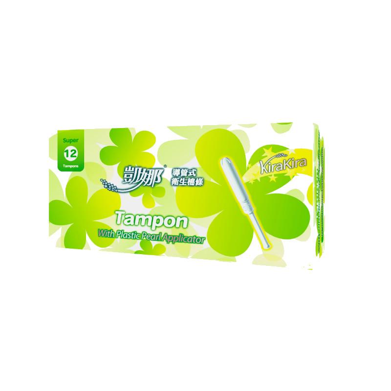 凱娜塑膠導管衛生棉條量多型(12入)