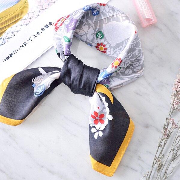 日本集彩苑 - Rabbit ウサギ絲巾/圍巾/方巾/頭巾(黑)《日本設計製造》