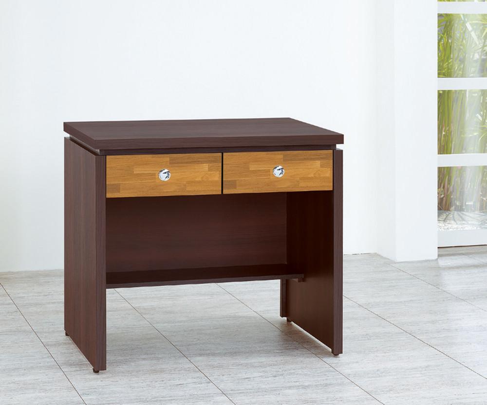 muna羅恩3尺二抽書桌(胡桃色)(橡木色)(白色)