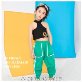 キッズダンス衣装 ダンス 韓国 ダンス 衣装 ステージ HIPHOPヒップホップ 舞台服 単品 ロングパンツ タンクトップ