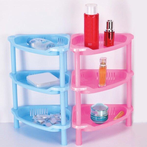A3963 三角三層收納 三層架 浴室整理架 多層收納 廁所收納 塑膠櫃 置物櫃 儲物架 贈品禮品