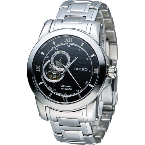 SEIKO 精工 Premier  精工 尊品鏤空開芯機械腕錶 4R39-00P0D SSA321J1