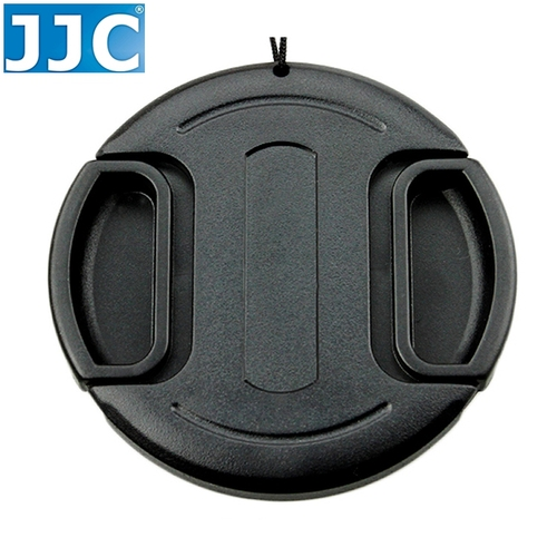 JJC副廠無字中捏鏡頭蓋55mm鏡頭蓋LC-55(B款,附孔繩)快扣鏡頭蓋55mm鏡頭保護前蓋