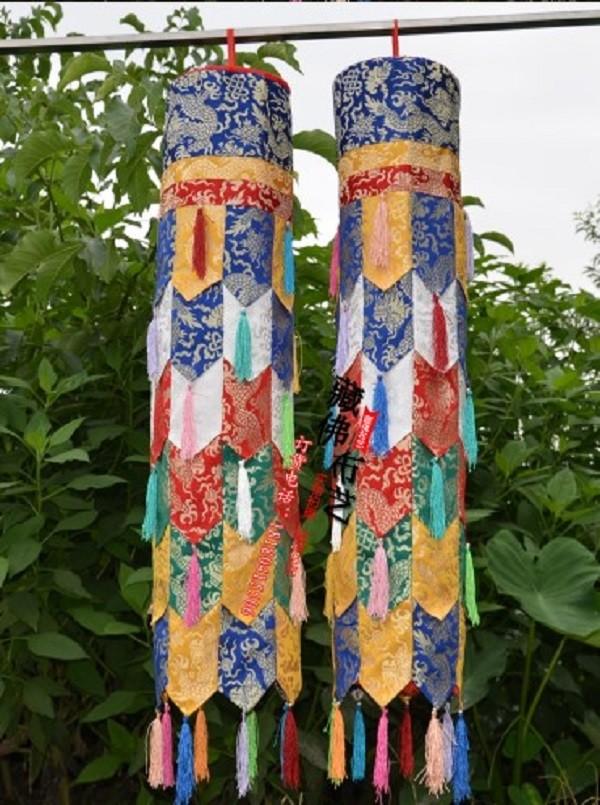藏傳佛教尼泊爾密宗佛堂裝飾用品勝利幢幡藏式居家裝修五彩筒1米
