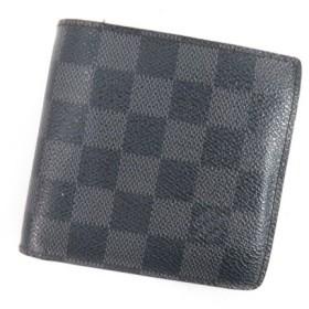 ルイヴィトン LOUIS VUITTON  ポルトフォイユ・マルコ N62664 二つ折り財布(小銭入れあり) ダミエキャンバス メンズ 【中古】