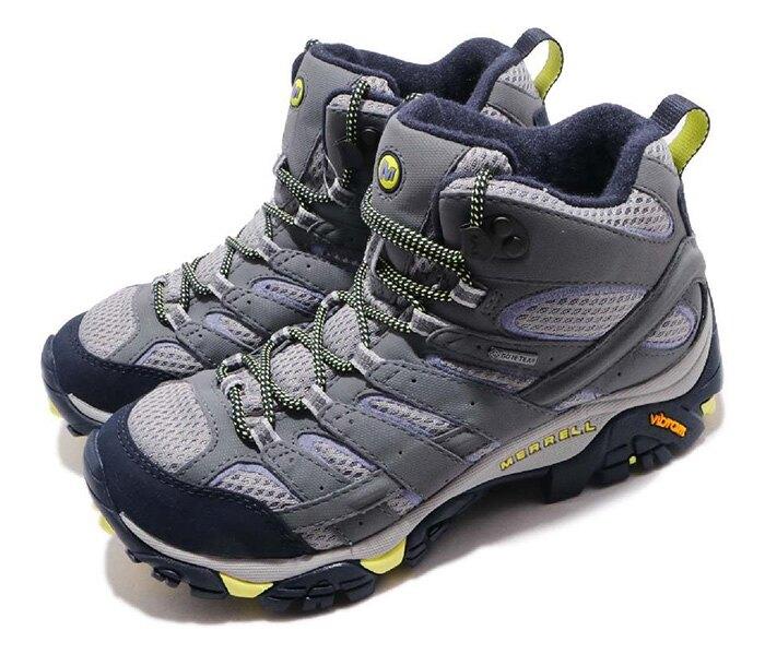 【Merrell 美國】MOAB 2 MID GORE-TEX 戶外多功能鞋 防水健行鞋 淺灰/淺紫 女款 (ML19884)